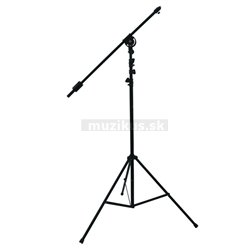 Výsuvný mikrofónny statív čierny max. Výška 390 cm
