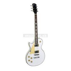 Dimavery LP-700L elektrická gitara, biela, pre ľavákov