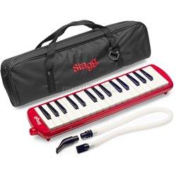 Stagg MELOSTA32 RD, klávesová harmonika, červená