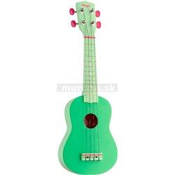 Stagg US, grass, sopránové ukulele, zelené