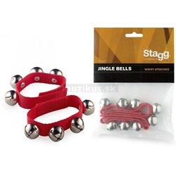 Stagg SWRB4 S/RD remienok úzky s 4 rolničkami, pár