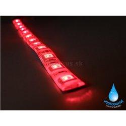 LED páska SMD3528, červená, 12V, 1m, IP54, 60 LED/m