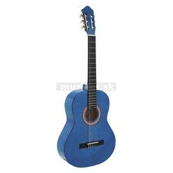 Dimavery AC-303 klasická gitara, modrá