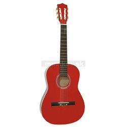 Dimavery AC-303 klasická kytara 3/4, červená