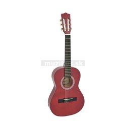 Dimavery AC-303 klasická gitara 1/2, červená