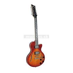 Dimavery LP-612 elektrická kytara 12-ti strunná, žíhaný sunburst