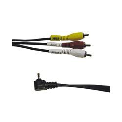 Kábel, 3,5 mm 4-pólový jack/3 x RCA zástrčka, 2 m