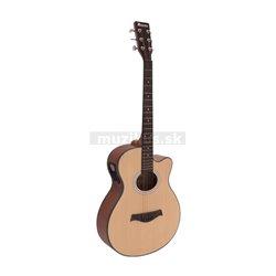 Dimavery AW-400 Western guitar, nature
