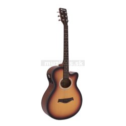 Dimavery AW-400 Western guitar, sunburst