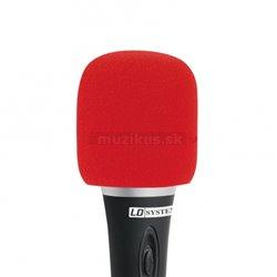 Adam Hall Ochr. kryt mikrofonu červený