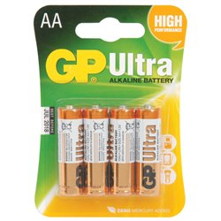 GP Batteries 1,5 V AA (AA), 4pack Ultra Alcaline