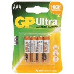 GP Batteries 1,5 V AAA (micro), 4pack Ultra Alcaline