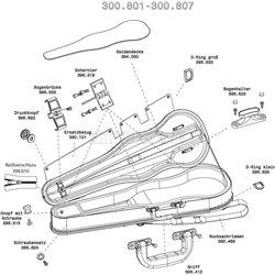 GEWA FORM SHAPED VIOLIN CASE LIUTERIA CONCERTO carabiner 40mm