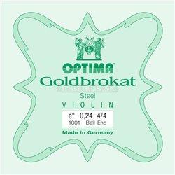 OPTIMA STRINGS FOR VIOLIN LENZNER GOLDBROKAT VIOLIN E 0,24 S X-light