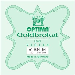 OPTIMA STRINGS FOR VIOLIN LENZNER GOLDBROKAT VIOLIN E 0,25 S light