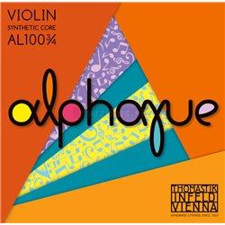 THOMASTIK STRINGS FOR VIOLIN ALPHAYUE NYLON CORE A Synt./Alu. AL02 3/4