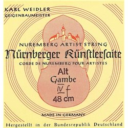 NĂśRNBERGER STRINGS FOR VIOLA DA GAMBA KUENSTLER ROPE CORE. CHROME STEEL WOUND D""