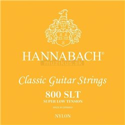 HANNABACH STRINGS FOR CLASSIC GUITAR SERIES 800 SUPER LOW TENSION SILVER PLATED E1 8001SLT