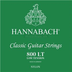 HANNABACH STRINGS FOR CLASSIC GUITAR SERIES 800 LOW TENSION SILVER PLATED E1 8001LT