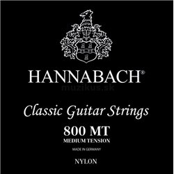 HANNABACH STRINGS FOR CLASSIC GUITAR SERIES 800 MEDIUM TENSION SILVER PLATED E1 8001MT