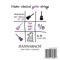 Hannabach Struny pro klasickou kytaru série 890 1/8 kytara pro děti Menzura: 44-48cm E1 8901MT 1/8