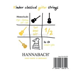 HANNABACH STRINGS FOR CLASSIC GUITAR SERIES 890 1/2 CLASSIC GUITAR FOR CHILDREN DUEL: 53-56 CM E1 8901MT 1/2