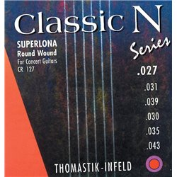 THOMASTIK STRINGS FOR CLASSIC GUITAR CLASSIC N SERIES. SUPERLONA LIGHT E1 .027 CN27