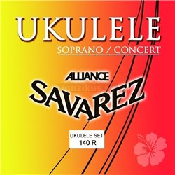 Savarez Struny pro Ukulele Sopran/Concert Sada Sopran/Concert 140R