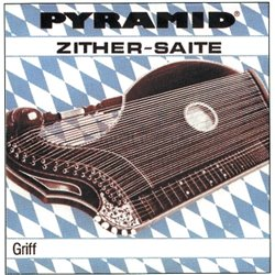 PYRAMID STRINGS FOR ZITHER ZITHER HANDLE. MUNICH TUNING A silver-steel 580.101