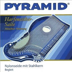 PYRAMID STRINGS FOR ZITHER NYLON SILK WITH STEEL CORE.HARP-/AIR ZITHER D 6. 612.106