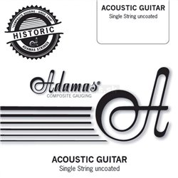 "ADAMAS STRINGS FOR ACOUSTIC GUITAR SINGLE STRINGS UNCOATED PLAIN - BARE STEEL STRINGS .014""/0,36mm"