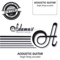 "ADAMAS STRINGS FOR ACOUSTIC GUITAR SINGLE STRINGS UNCOATED PLAIN - BARE STEEL STRINGS .015""/0,38mm"