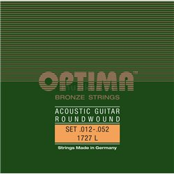 OPTIMA STRINGS FOR ACOUSTIC GUITAR BRONZE STRINGS E1 .012 PS012