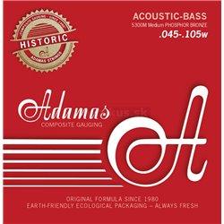ADAMAS STRINGS FOR ACOUSTIC BASS##%BR## PHOSPHOR BRONZE Set 4-string med 5300M