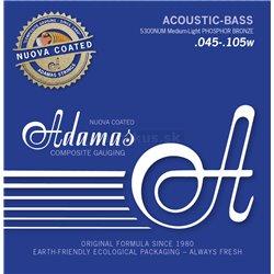 ADAMAS STRINGS FOR ACOUSTIC BASS##%BR## NUOVA COATED Set 4-string med-light 5300NU-ML
