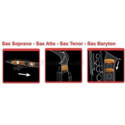 SAXMUTE SAXOPHONE MUTES Soprano Saxophone with 2 necks