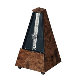 Wittner Metronom Pyramidový tvar Kořenové dřevo 845001