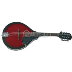 PURE GEWA Folk-Mandolína A–1 Oval Black Cherry