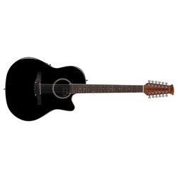 Applause E – akustická kytara Balladeer Mid Cutaway 12-string Černá AB2412II-5