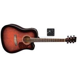 PURE GEWA E – akustická kytara D-10 CE Violinburst-zabarvení