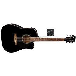 PURE GEWA E – akustická kytara D-10 CE Černá