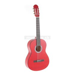 GEWApure Konzertgitarre VGS Basic 3/4 transparentně červená