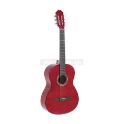 GEWApure Konzertgitarre VGS Basic 4/4 transparentně červená