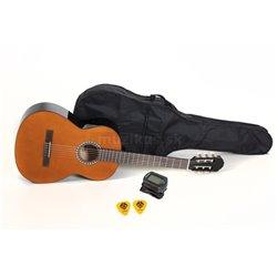 PURE GEWA Koncertní kytara Basic Set 4/4 ořechová barva