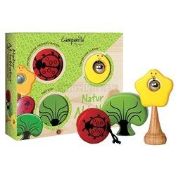 Campanilla Perkusní sada Zahradní kamarádi - 3 dílná sada Přírodní miláčci 3 kusy