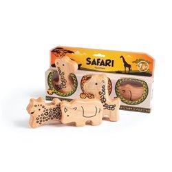 Campanilla Perkusní sada Řehtací zvířata 3-dílné Safari Set 3-dílné