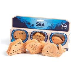 Campanilla Perkusní sada Řehtací zvířata 3-dílné Ocean Set 3-dílné