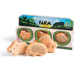 Campanilla Perkusní sada Řehtací zvířata 3-dílné Farm Set 3-dílné