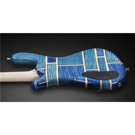 Warwick Custom Shop Streamer LX, 4-String - Patchwork Blue Transparent High Polish - 15-3005
