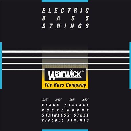 Warwick Black Label - Bass String Set, 4-String, Piccolo, 020-080, Medium Scale